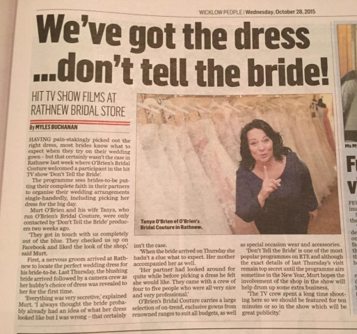 O'Briens Bridal Couture in Wicklow People