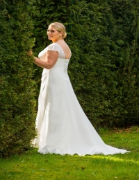 Plus size wedding dresses by Special Day BB17 508 BACK