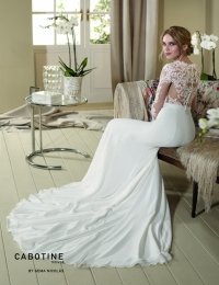 Wedding dress by Cabotine 5007666 Dedalera back size 12UK Ivory