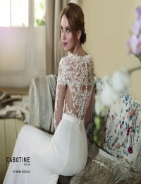 Wedding dress by Cabotine 5007666a Dedalera size 12UK Ivory