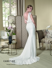 Wedding dress by Cabotine 5007679 Grosella back size 14UK Ivory