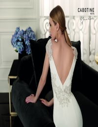 Wedding dress by Cabotine 5008135a Angers  size 14UK Ivory