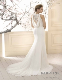 Wedding dress by Cabotine 5008136 Begur back size 14UK Ivory