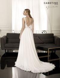 Wedding dress by Cabotine 5008151 Carcasona back size 14UK Ivory