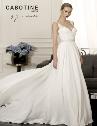 Wedding dress by Cabotine 5008151a Carcasona size 14UK Ivory