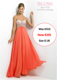 blush prom 9739 coral pink colour