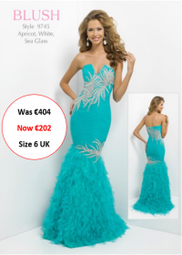 blush prom 9745 Sea glass colour