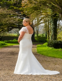 Plus size wedding dresses by Special Day BB17 501 BACK