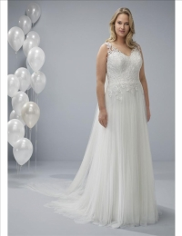 Plus size wedding dresses by White One Plus OCAL a