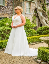 Wedding dress by Special Day BB18709 sample size UK24