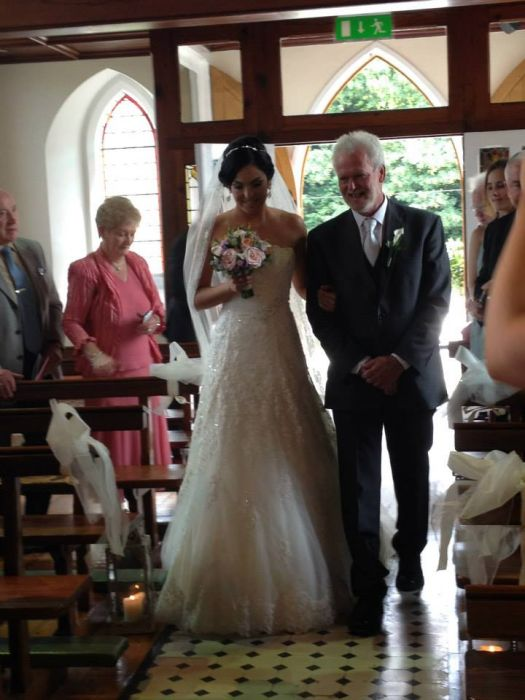 Our beautiful Bride Nita looks fabulous in the Charlene