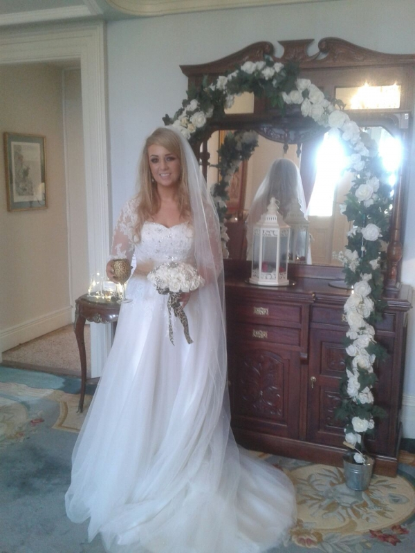 Our beautiful bride Nicky